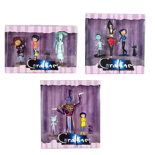 Coraline 3 Inch Pvc Figures Case Entertainment Earth