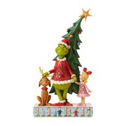 Dr. Seuss The Grinch, Max, and Cindy by Tree Statue by Jim Shore