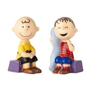 Peanuts Charlie Brown and Linus Salt and Pepper Shaker Set