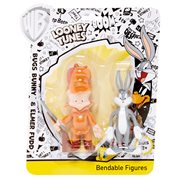 Looney Tunes Bugs Bunny and Elmer Fudd Bendable Action Figures