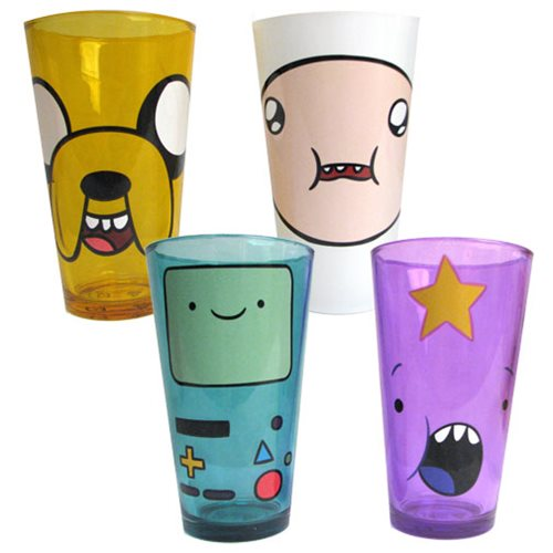 Adventure Time Angry Faces Pint Glass 4-Pack, Not Mint
