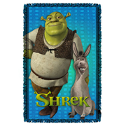 Shrek Pals Woven Tapestry Throw Blanket