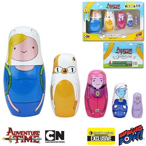 Adventure Time Fionna and Cake Nesting Dolls Set of 5 - Entertainment Earth Exclusive