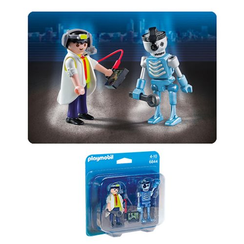 Playmobil 6844 Scientist with Robot Duo Pack Action Figures