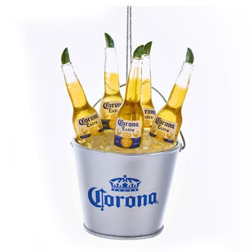 Corona Bottles in Ice Bucket 3 3/4-Inch Ornament