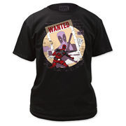 Deadpool Wanted Black T-Shirt