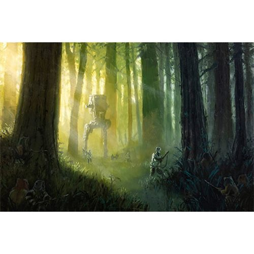 Star Wars Patrolling the Endor Moon by Christopher Clark Canvas Giclee Art Print