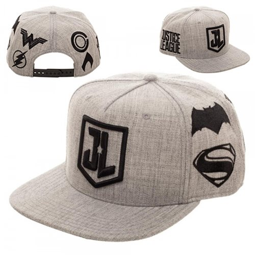 Justice League Embroidered Acrylic Wool Snapback Hat