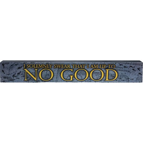 Harry Potter Solemnly Swear Wide Wooden Sign