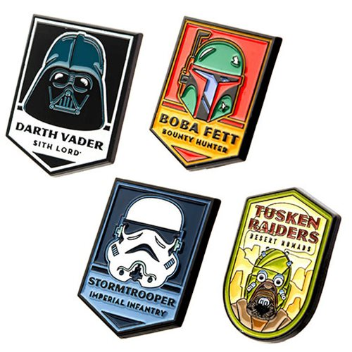 Star Wars Dark Side Characters 4-Pack Enamel Pin Set
