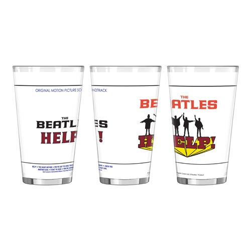 Beatles Help! 16 oz. Sublimated Pint Glass