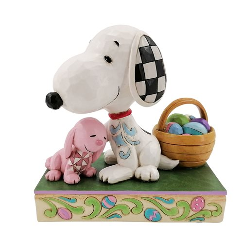 Peanuts Snoopy With Easter Basket Easter Surprises by Jim Shore Statue