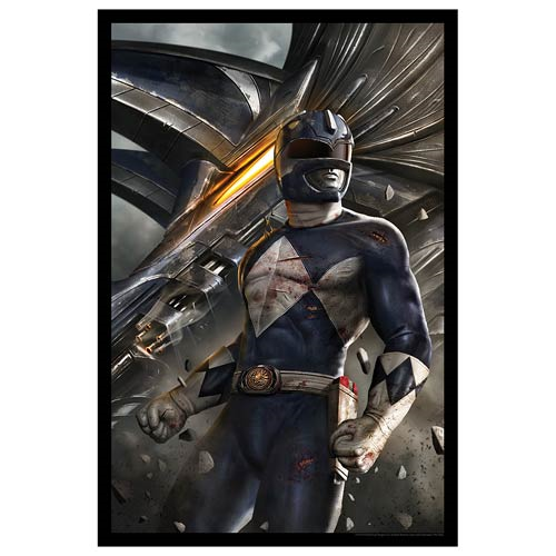 Mighty Morphin' Power Rangers Blue Ranger by Carlos Dattoli Lithograph Art Print