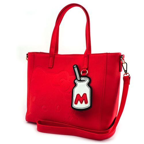 Hello Kitty with Milk Red Tote Purse