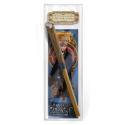 Fantastic Beasts and Where to Find Them Newt Scamander Wand Pen & Bookmark