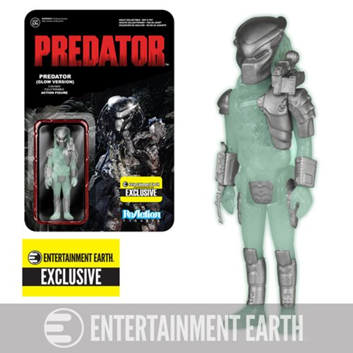 Glow-in-the-Dark Predator ReAction 3 3/4-Inch Retro Figure - Entertainment Earth Exclusive
