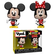 Mickey Mouse and Minnie Mouse Vynl. Figure 2-Pack
