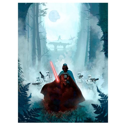Star Wars Vengeful Pursuit by Jeremy Saliba Lithograph Art Print