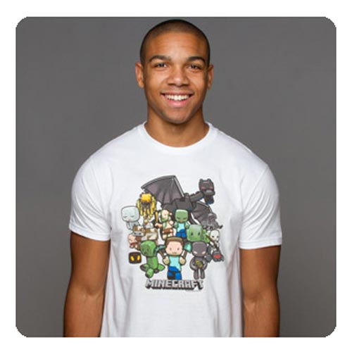 Minecraft Party White Premium T-Shirt