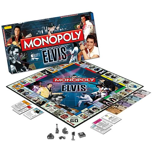 Elvis Presley 75th Anniversary Collector's Edition Monopoly
