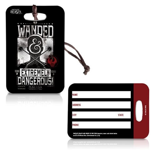 Fantastic Beasts and Where to Find Them Wanded Poster Black Luggage Tag