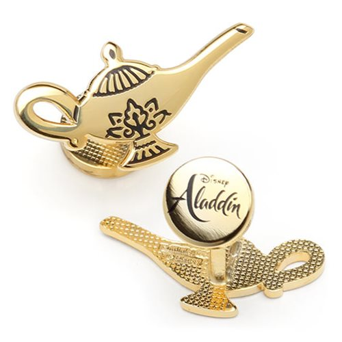 Aladdin Gold Lamp Cufflinks