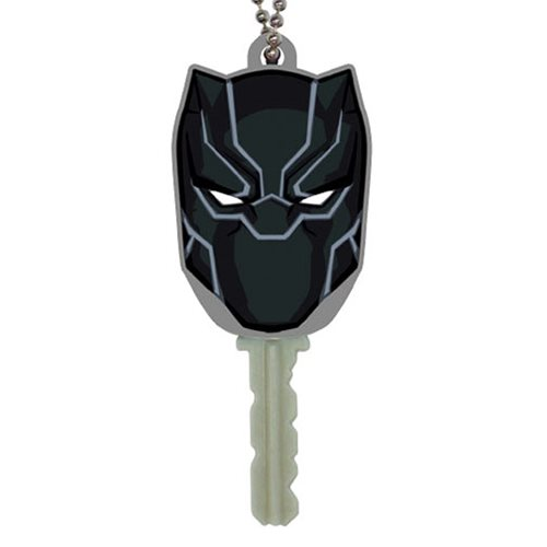 Black Panther Soft Touch PVC Key Holder