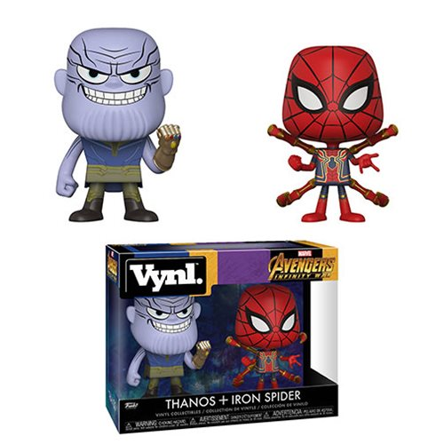 Avengers: Infinity War Thanos and Iron Spider Vynl. Figure 2-Pack