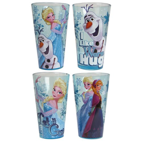 Disney Frozen Glitter 16 oz. Pint Glass 4-Pack
