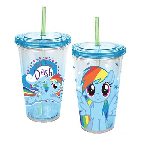 My Little Pony Friendship is Magic Rainbow Dash 18 oz. Acrylic Travel Cup