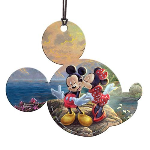 Mickey and Minnie Sweetheart Cove Thomas Kinkade Hanging Acrylic Print