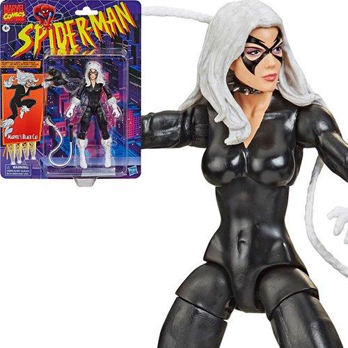 Spider-Man Retro Marvel Legends Black Cat Action Figure