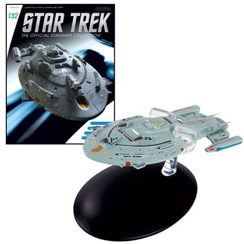 Star Trek Starships Warship Voyager Die-Cast Metal Vehicle with Collector Magazine #132