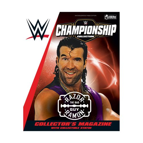 WWE Championship Collection Razor Ramon Figure with Collector Magazine