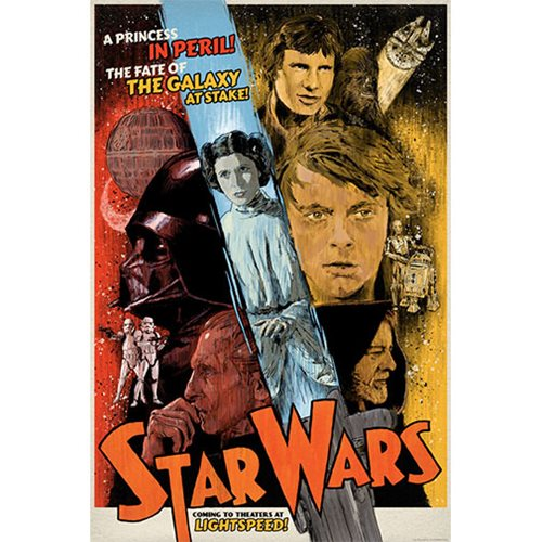 Star Wars The Galaxy at Stake by J.J. Lendl Lithograph Art Print