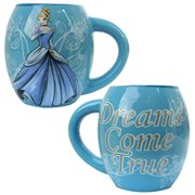 Cinderella Dreams Come True Blue 18 oz. Ceramic Oval Mug