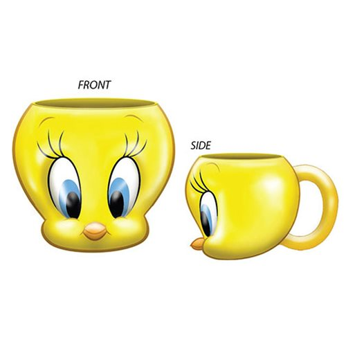 Looney Tunes Tweety Bird Face Ceramic 3D Sculpted Mug