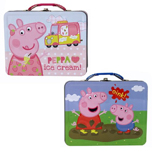 Peppa Pig Large Carry All Embossed Tin Tote Set