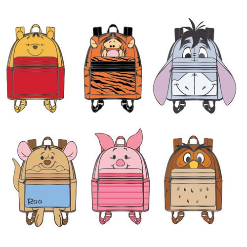 Winnie the Pooh Mini-Backpack Random Blind-Box Enamel Pin 12-Piece Display Tray
