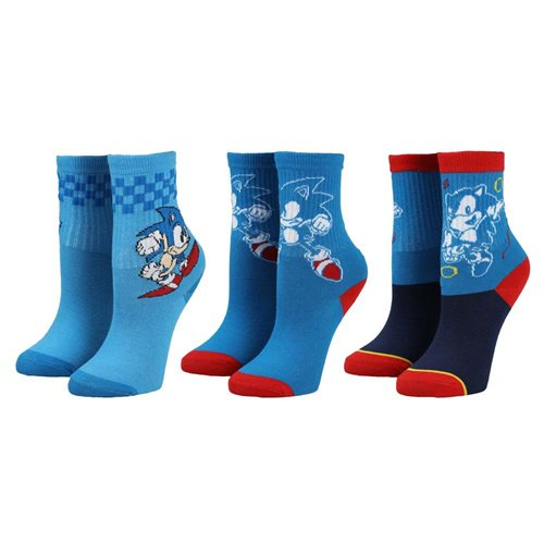 Sonic the Hedgehog Sonic Youth Crew Socks Set of 3