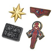Captain Marvel 4-Pack Enamel Pin Set