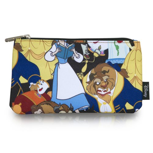 Beauty and the Beast Print Travel Cosmetic Bag