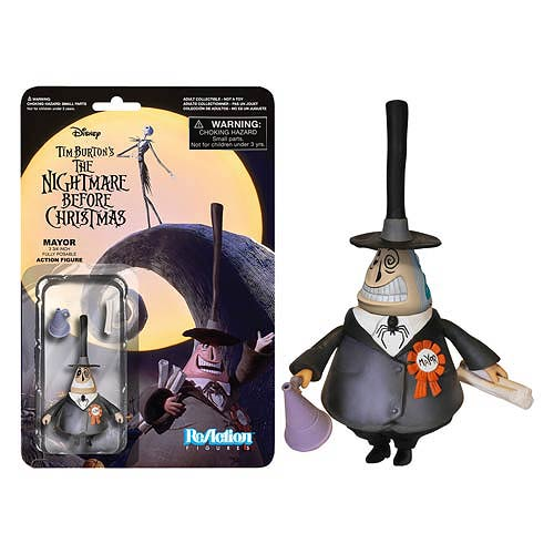 The Nightmare Before Christmas Mayor ReAction 3 3/4-Inch Retro Action Figure