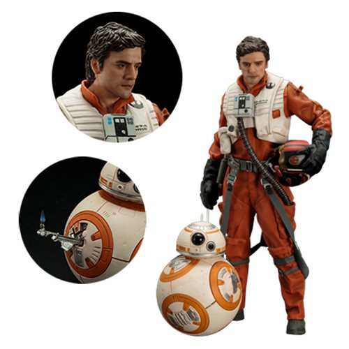 Star Wars: The Force Awakens Poe Dameron and BB-8 ArtFX+ 2-Pack Statues