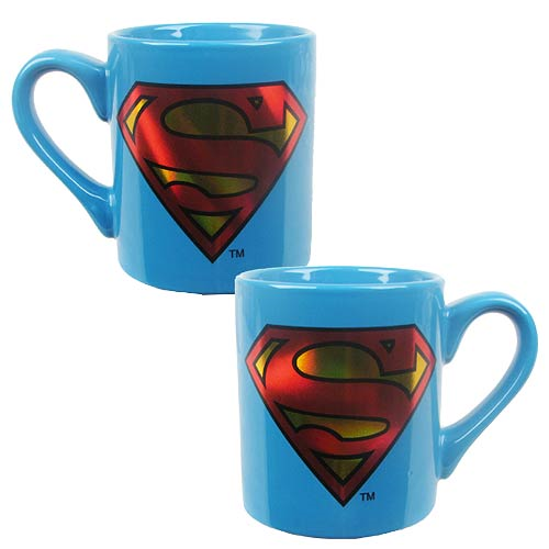 Superman Logo 14 oz. Ceramic Laser Print Mug