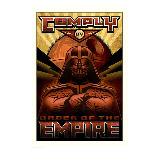Star Wars Comply Paper Giclee Print