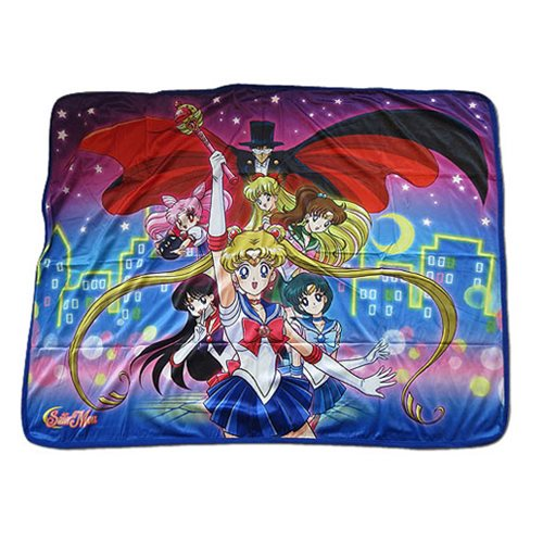 Sailor Moon R Sailor Moon Group Sublimation Throw Blanket