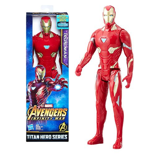 Avengers: Infinity War Titan Hero Series Iron Man 12-Inch Action Figure with Titan Hero Power FX Port, Not Mint