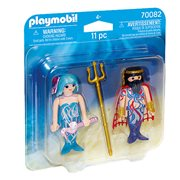 Playmobil 70082 Duo Packs Sea King and Mermaid Action Figures