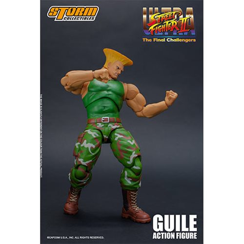 Street Fighter Guile 1:12 Scale Action Figure